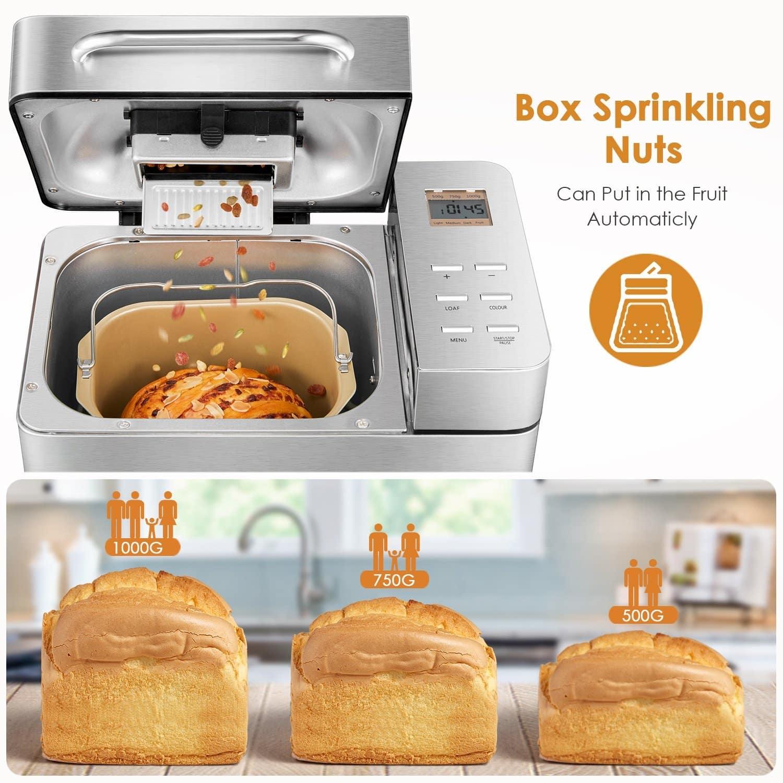 Différents styles de pain à faire avec le aicok, pour toute la famille avec cette machine à pain pas cher