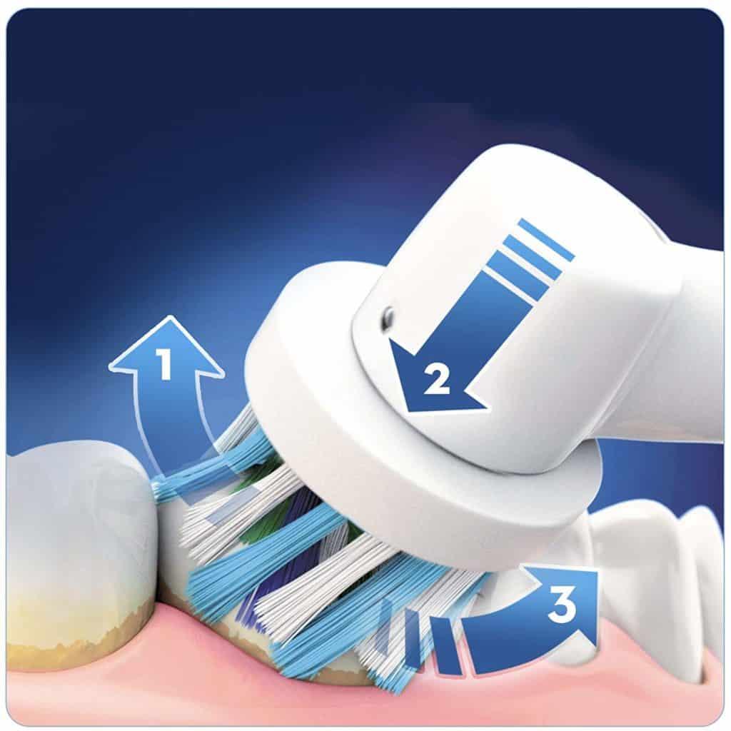 La brosse à dent Oral-B Pro 6500 permet de bien détartrer vos dents, finis les visites au dentiste