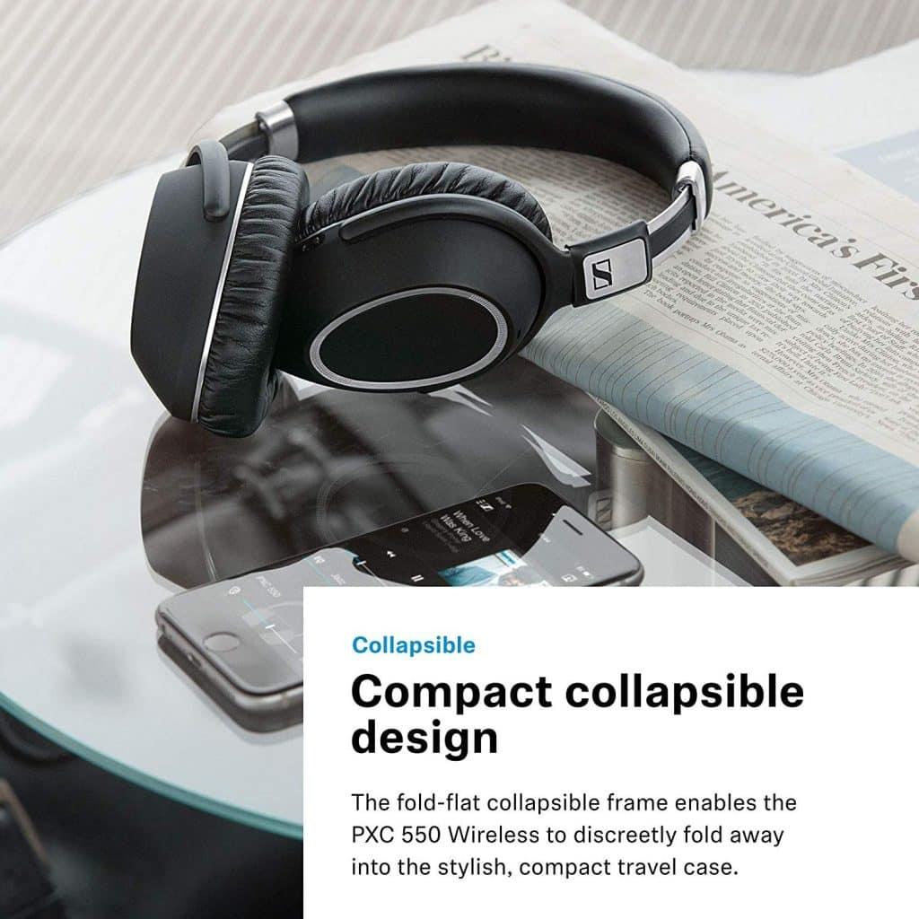Sennheiser PXC 550 Casque sans Fil est léger, compact et pliable