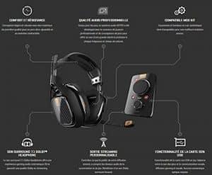 Le casque gaming ASTRO A40 TR est composé d'un mélange de métal et de plastique composite