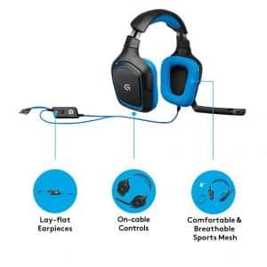 Le Logitech G430 a le même aspect et la même sensation que la plupart des casques gaming Logitech