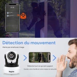 Le bon rapport qualité prix outre la fonctionnalité de la caméra IP WiFi Bagotte répond aux besoins des utilisateurs