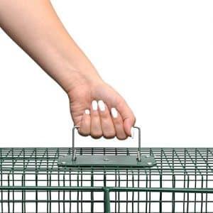 L'utilisateur peut transporter l'animal capturé en toute sécurité grâce à la poignée
