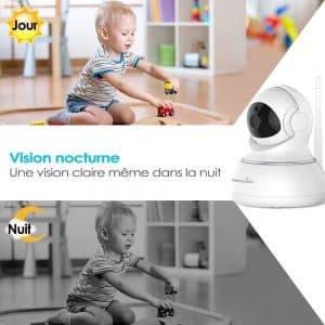 La Wansview Caméra IP sans Fil embarque une fonction vision nocturne