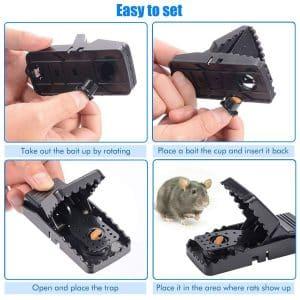 Les pièges à rats sont réutilisables et ont été conçus pour éviter les accidents