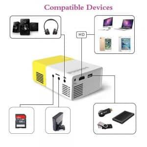 Ce mini vidéoprojecteur bénéficie d'une technologie d'imagerie TFT LCD et de la technologie LED