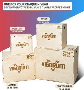 Jump box VigorumPlyo Box en bois 3-en-1